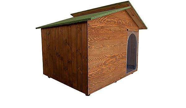 Caseta para amor - Casita para perros riscaldata de madera - Familiar Caseta (mis. int. 130 x 110 x 110) + Kit calentador Caseta 140 W: Amazon.es: Hogar