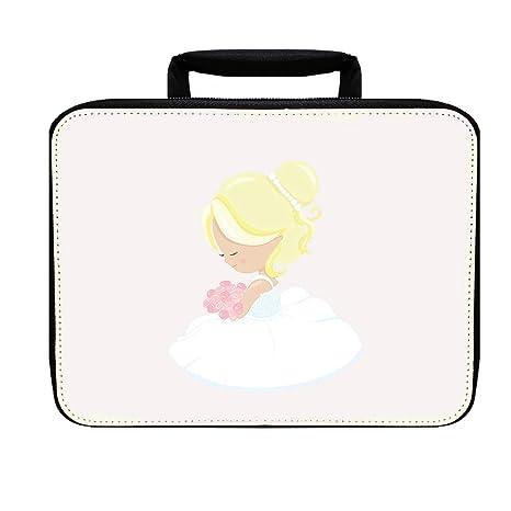 Amazon Com Bride Blonde Hair 3 Nylon Insulated Lunch Box Food Bag