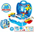 Doctor Medical Kits Pretend Play Medical Toys Set with Carry Case for Kids ,Boys ,Girls (Medical Kit (18pcs))