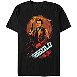 Fifth Sun Solo: A Star Wars Story Men's Smoking Blaster Black T-Shirt