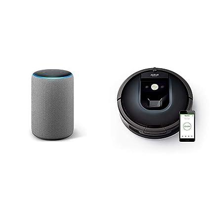 Echo Plus gris oscuro + iRobot Roomba 981 - Robot aspirador para ...
