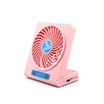 INFAN Ventilador Plegable para PC Refrigerador Power Bank Iluminación Nocturna Escritorio portátil Personal Desktop Desktop Ventilador: Amazon.es: Hogar