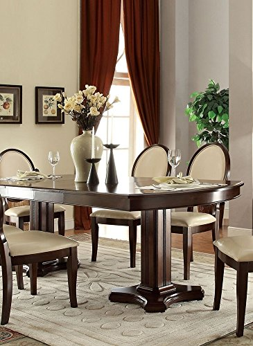 (Acme Furniture 71260 Balint Double Pedestal Dining Table, Cherry)