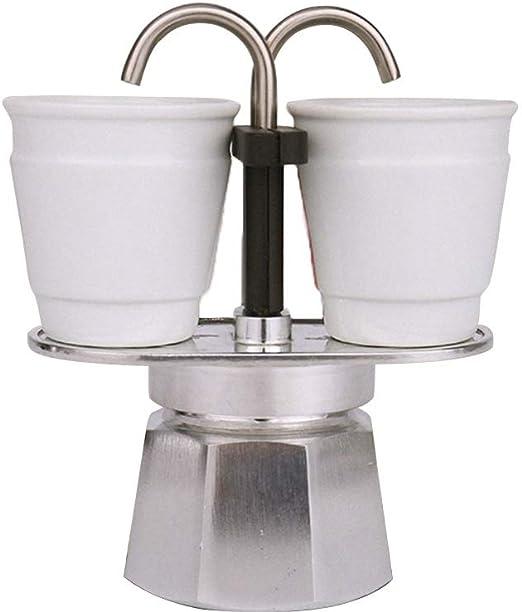 Zhicaikeji Moka Pot Estilo Retro Espresso Inicio Mini Cafetera Cafetera Hogar Mocha Pot Uso En El Hogar Cafetera Exprés Cafetera Espresso (Color : Silver, Size : 2cup): Amazon.es: Hogar
