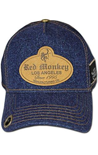 Red Monkey Denim Rinse Denim/Blue Trucker Hat (Red Monkey Jeans)
