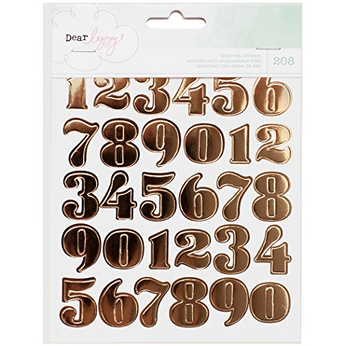 scrapbooking numbers gold - 6