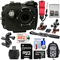 Intova X2 Marine Grade Wi-Fi HD Video Action Camera Camcorder with Video Light + 64GB Card + Action Mounts + Backpack Case + Floating Strap + Kit