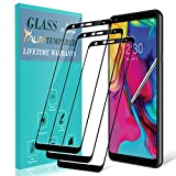 [3-Pack] TAURI for LG Stylo 5 Screen Protector, [Full Cover] Tempered Glass Screen Protector with Lifetime Replacement Warranty - Black
