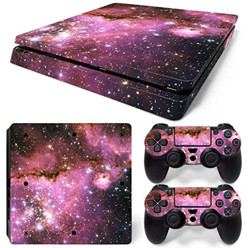 SUKEQ Protective Skin for PS4 Controller, Galaxy Vinyl Sticker Decal Cover for Sony Playstation Console Controller (Galaxy J)
