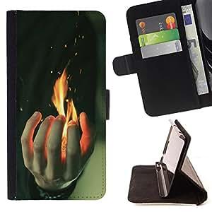 Devil Case- Estilo PU billetera de cuero del soporte del tirš®n [solapa de cierre] Cubierta FOR Sony Xperia Z2 L50t L50W L50U- Powerful Fire kidding