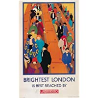 London Underground - Brightest London 1924 - LU041 Satin Paper A4 Size