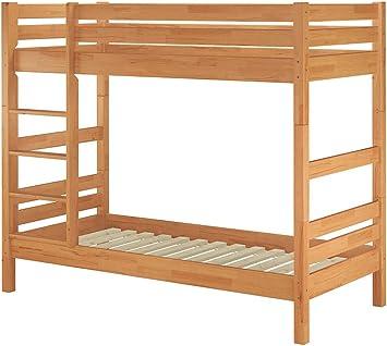 Erst-Holz Cama litera Stock Haya Maciza Natural 90 x 200 Muelle ...