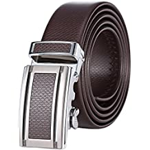 Mio Marino Premium Leather Golf Ratchet Belt - Adjustable Buckle - Free Gift Box