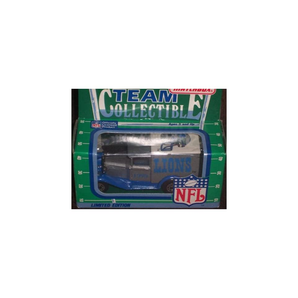 Detroit Lions 1990 Matchbox White Rose NFL Diecast Ford Model A Truck Collectible Car