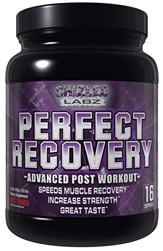 Recovery Drink Advanced Post Workout Supplement, PERFECT RECOVERY, Complete Muscle Recovery Shake with Whey Protein, Aminos, Vitamins, Antioxidants and Electrolyte Matrix. Great Taste Fruit Punch