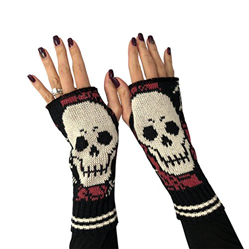 Green 3 Women's Skull Handwarmers (Warmer Hand Women)