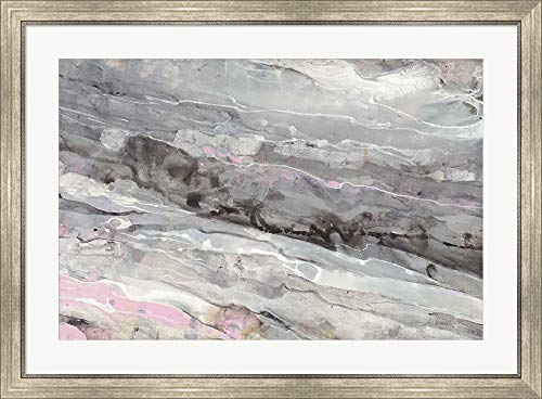 Alabaster by Albena Hristova Framed Art Print Wall Picture, Silver Scoop Frame, 38 x 28 inches