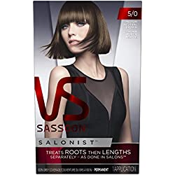 Vidal Sassoon Salonist Hair Colour Permanent Color Kit, 5/0 Medium Neutral Brown