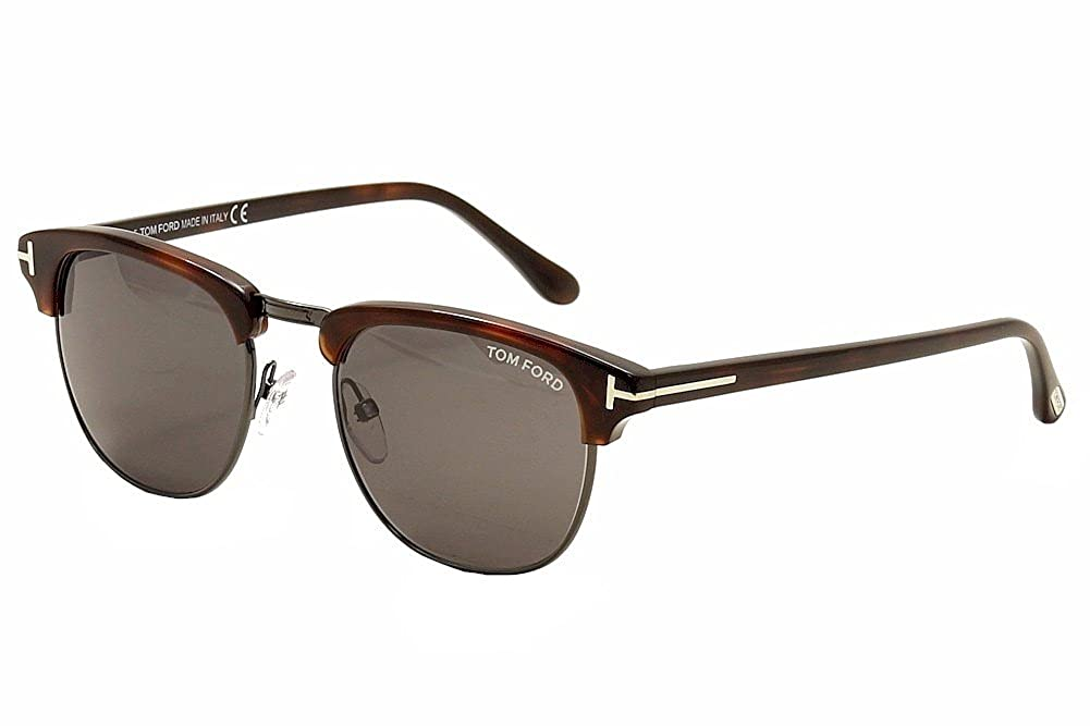 Amazon.com: Tom Ford TF 248 Henry Gun Metal/Havana 52 un ...