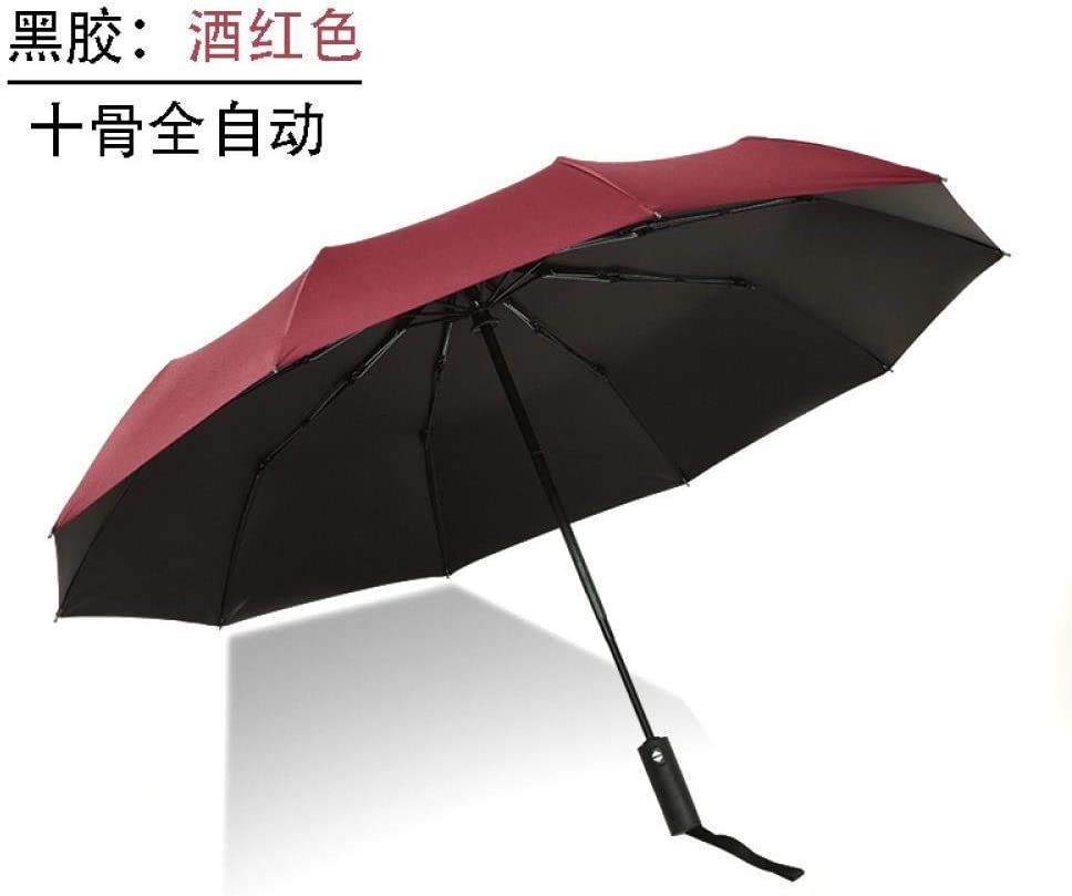 Folding umbrella - full automatic umbrella, Red