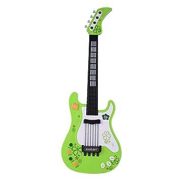 STOBOK Guitarra Eléctrica para Niños Juguete de Instrumento Musical Niños Juguetes Educativos Tempranos Batería no Incluida Verde: Amazon.es: Juguetes y ...