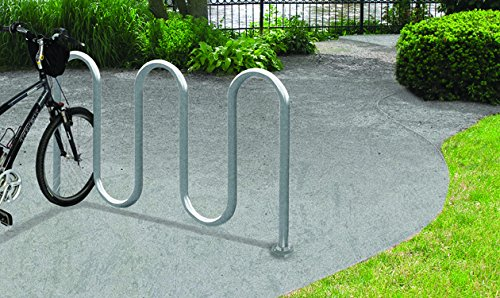 Steel Park-It Galvanized PLUS Bike Rack - Fits 7 Bikes - Surface Mount