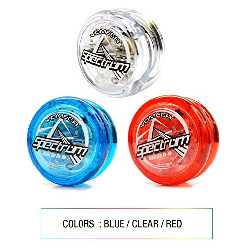 Yomega Spectrum – Light up Fireball Transaxle YoYo with LED Lights for Intermediate, Advanced and Pro Level String Trick Play + Extra 2 Strings & 3 Month Warranty (Blue) by Yomega (Image #3)