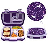 Bentgo Kids Prints (Unicorn) - Leak-Proof, 5-Compartment Bento-Style...