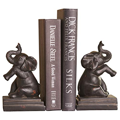 Giftcraft Elephant Design Book Ends Set of 2 ()
