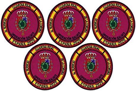 Gemelolandia | Pack de 5 Parches bordados para la ropa Operación Balmis 2020 Operación Militar España