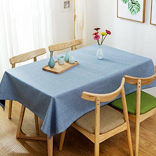 A Rectangular -130220cm William 337 Nappes rectangulaires de couleur unie - Nappes de cuisine de table de café, nappes antioxydantes imperméables - épaississeHommest (Couleur   A, taille   Rectangular -130  220cm)