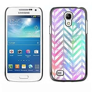 TopCaseStore / la caja del caucho duro de la cubierta de protección de la piel - White Iridescent Neon - Samsung Galaxy S4 Mini i9190 MINI VERSION!