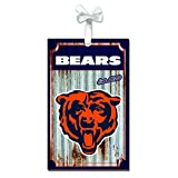 Team Sports America 3OT3805MC Chicago Bears Metal Corrugate Ornament
