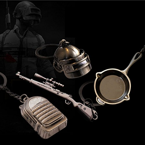 for PUBG Pistol Helmet Backpack Flat pom Keychain Four-Piece (PUBG Four Pieces)