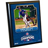 "MLB Chicago Cubs Kris Bryant Plaque with Game Used Dirt from Wrigley Field, 8"" x 10"", Navy"