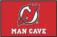 FANMATS 14454 NHL New Jersey Devils Nylon Universal Man Cave Starter Rug