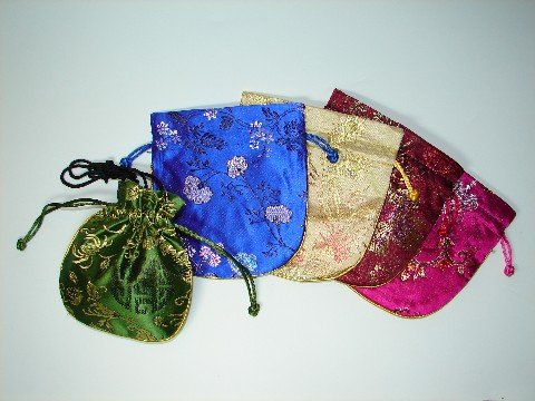 ORIENTAL BROCADE JEWELRY POUCHES BAGS
