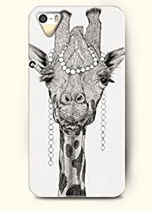 OOFIT Phone Case design with Giraffe Wearing Jewel for Apple iPhone 5 5s