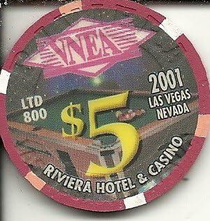 $5 riviera pool players apa 2006 vintage las vegas casino chip limited