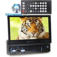 Soundstream VR-75B In-Dash 1-DIN 7 LCD Screen DVD Receiver with Bluetooth