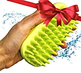 Dog Bath Brush – Best Pet Bathing Tool for Dogs – Pet Shampoo Brush for Grooming – Soft Silicone Bristles Give Pet Gentle Massage