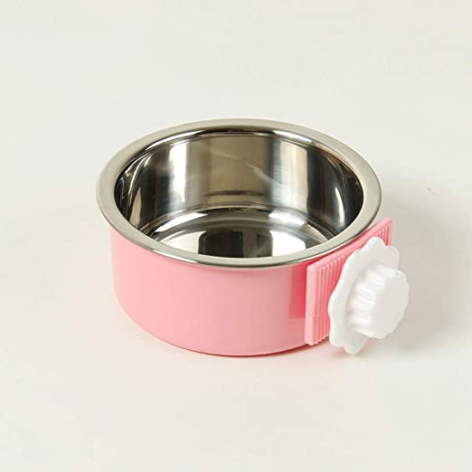 Cuencos De Mascotas De Acero Inoxidable para Perros Y Gatos Plato De Comedero para Jaulas Perreras Y Cajones para Alimentos Y Agua