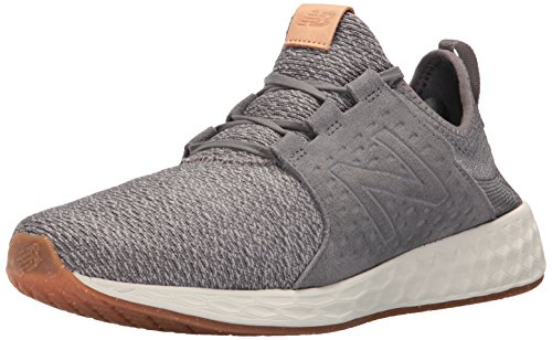 New Balance Men's Fresh Foam Cruz Running Shoe, Castlerock/Sea Salt, 10 2E US