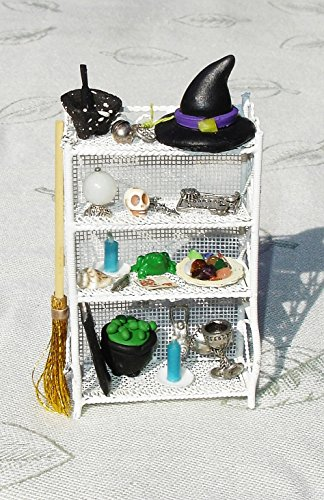 Spooky Witches Miniature Cabinet - Doll House Miniature Furniture - Wiccan Decor - OOAK