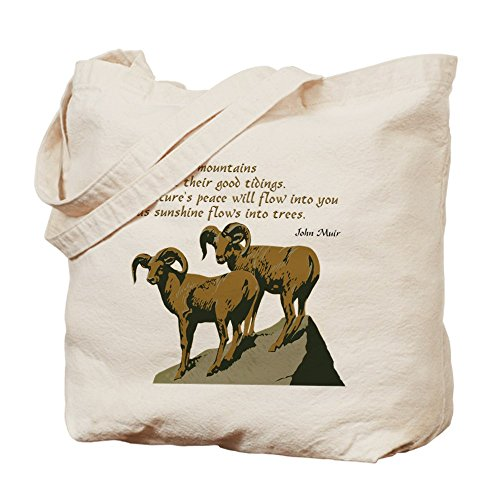 CafePress–John Muir cita–Gamuza de bolsa de lona bolsa, bolsa de la compra
