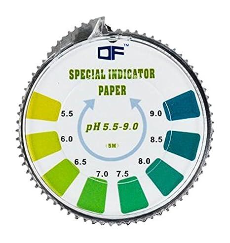 DF Speciality PAPER PH Indicador Tornasol TEST Papel Rollo de , 5.5-9.0 para el agua orina y Saliva - 5 metros: Amazon.es: Salud y cuidado personal