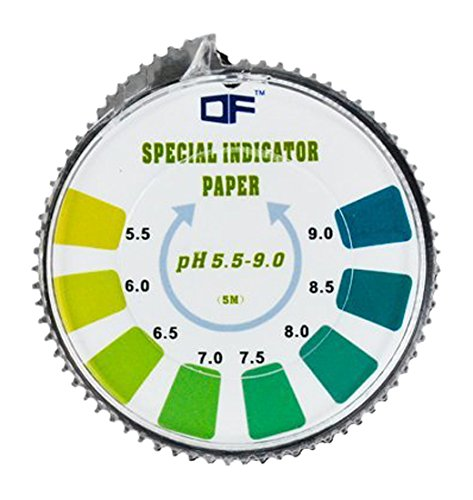 DF Speciality Paper pH Indicator Litmus Test Paper Strip Roll, 5.5-9.0 For Water Urine And Saliva - 5 Meters DF-Lutmus-5.5-9.0