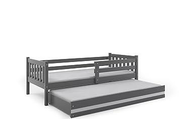Interbeds Cama Infantil Nido 190X80 CARINO, 2 colchónes de Espuma incluidos! los somieres INCLUIDOS!(Gris): Amazon.es: Hogar