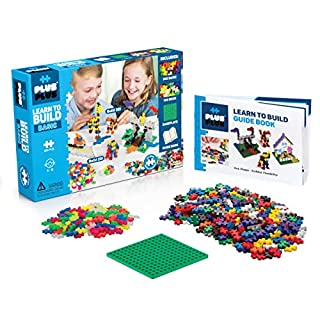 Plus-Plus - Learn to Build Basic Color Mix, 400 Piece - Construction Building STEM   STEAM Toy, Interlocking Mini Puzzle Blocks for Kids