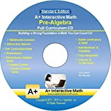 Software : Pre-Algebra (7th or 8th Grade) Math Full Curriculum Software Program - Standard Edition (Windows PC - Video Lessons, Interactive Review, Worksheets, Tests, and more...)